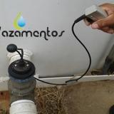 detectando fuga de água