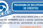 Programa de Recuperação de Créditos da Caesb - RECRED