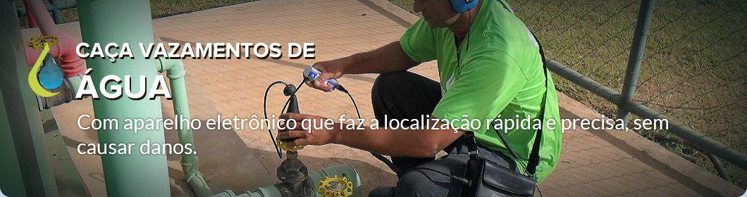 Detecção de vazamentos de água. Brasília- DF,  Taguatinga, Lago sul.